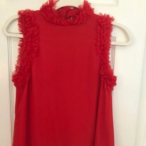 Alexis Red Ruffle Top